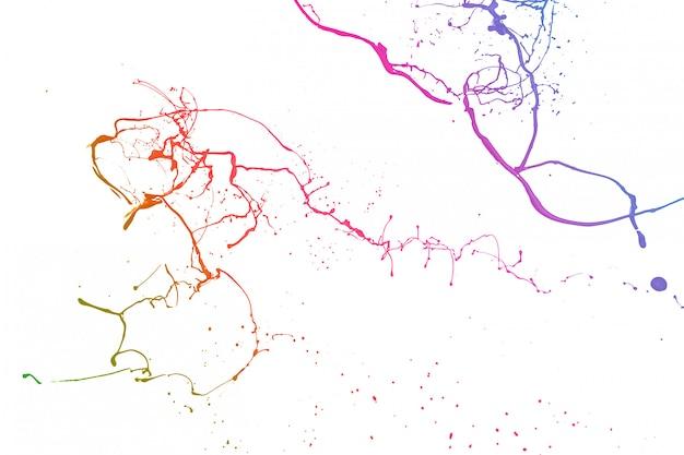 Пестрая краска брызги, изолированные на белом фоне.