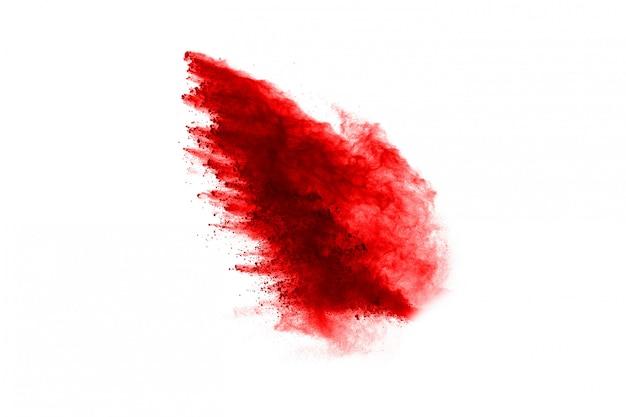 赤い粉の爆発の凍結運動