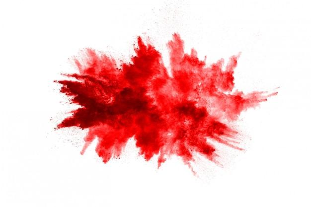 Заморозить движение взрыва красного порошка
