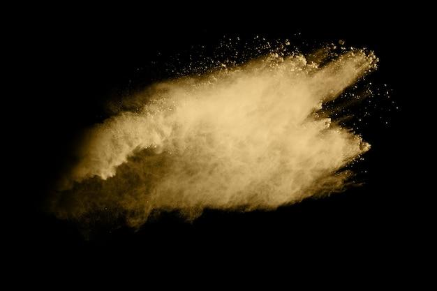 黒の金粉爆発。