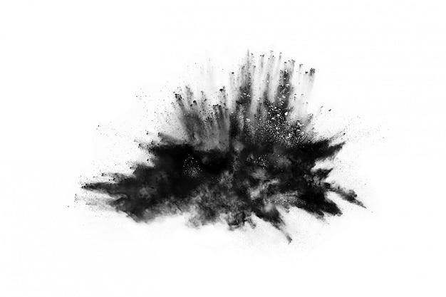 黒粉爆発白背景