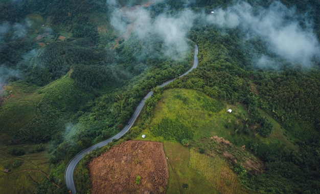 ドイチェンライタイで雨季に山の経路