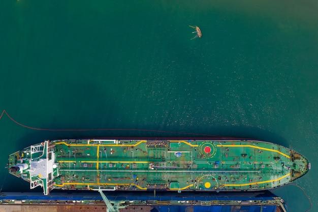 海の造船所を修理するための石油の輸送