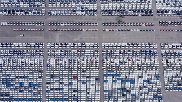 新しい車の製品は、輸出航空写真ビューのラインナップ