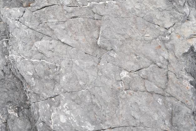 割れ目と破線を持つ灰色の石