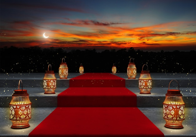 Рамадан карим фонари.