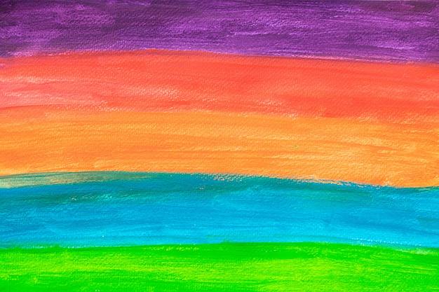背景のカラフルなストリップの水の色の痛み。