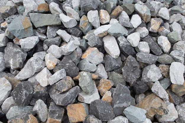 砕石建材。砕石石の背景。