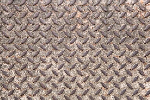 古い鋼の床のテクスチャの背景。