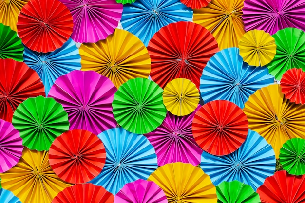 Красочные бумажные цветы фон.