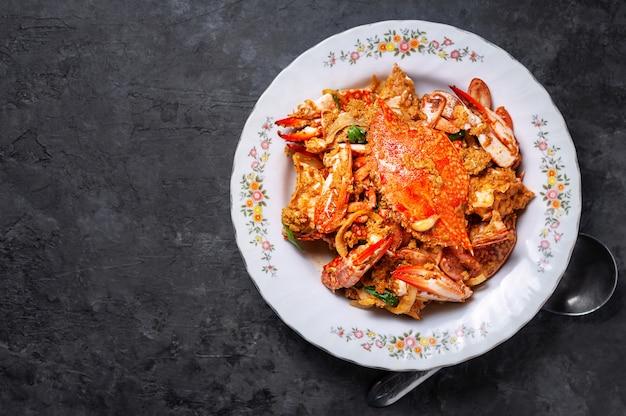 カニのカレー粉、タイ料理
