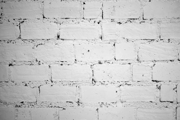 白いレンガ壁の表面を背景テクスチャを閉じる