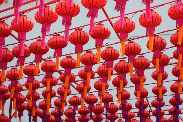 中国町、タイからの赤い祭りのランタン