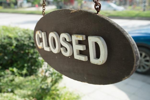 Открытый знак в стиле винтаж, закрыть