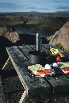 自然のキャンプ