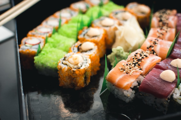 Набор цветных суши
