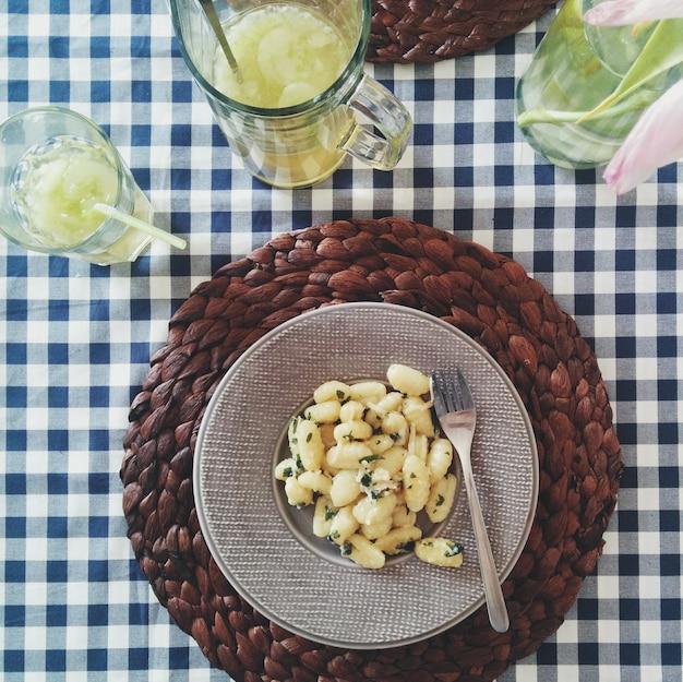 Картофельные пельмени с сыром пармезан