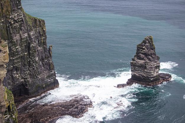 モハーのクローズアップの崖アイルランド