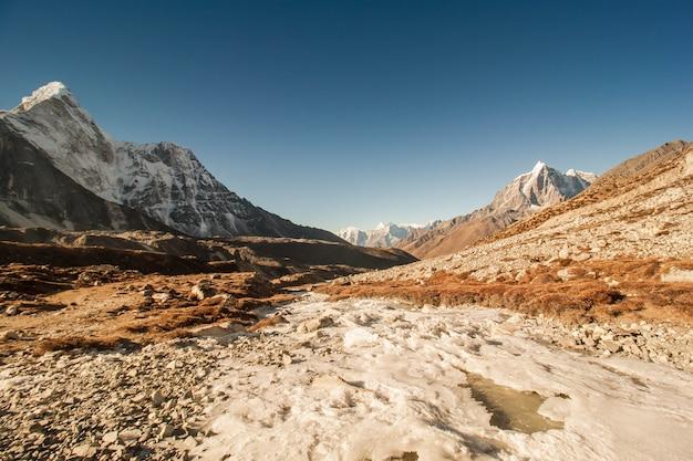 冬のエベレスト地方