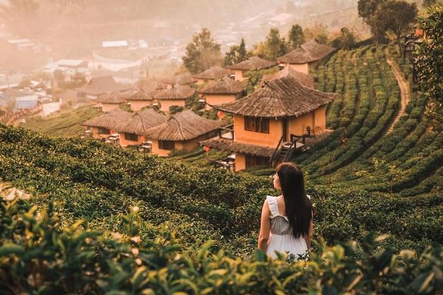 リー・ワイン・ラック・タイ、中国居留地、メーホンソン、タイでの日の出