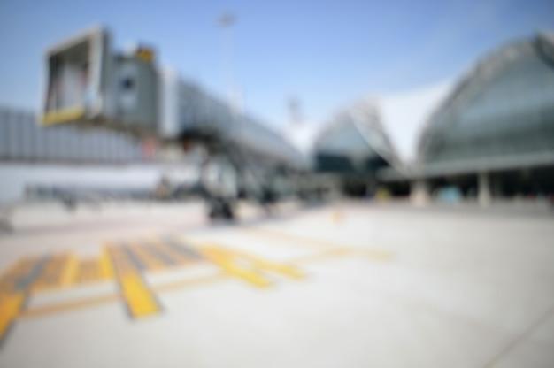 抽象的なぼやけた空港の背景。