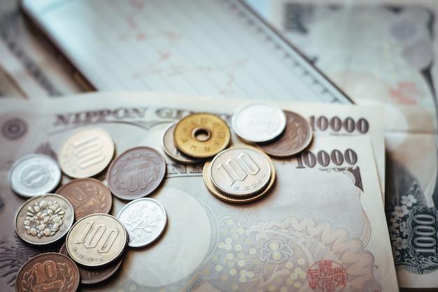 Япония банкноты и монеты для бизнеса
