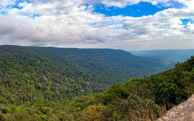 Живописный пейзаж с горным лесом, национальный парк кхао яй, таиланд
