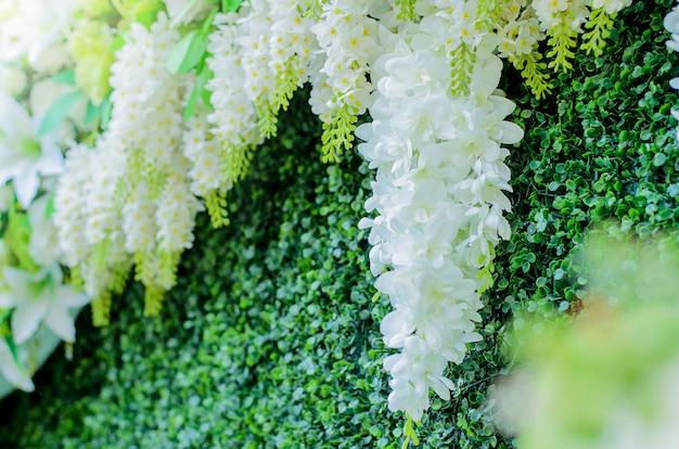 結婚式の花、白い花