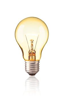 タングステン電球をオンにする現実的な写真画像
