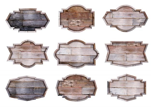 Коллекция деревянных вывесок