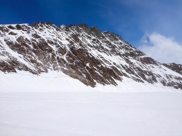 ユングフラウ山脈の景観、スイス、ヨーロッパのトップの美しいパノラマビュー。