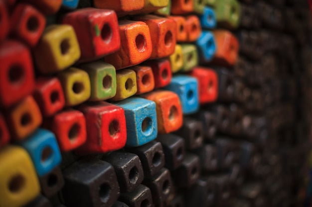 Цветной фон из кубиков