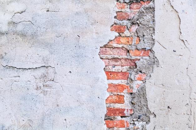 ビンテージレトロブラウン色の質感の詳細な粘土石レンガブロックの壁