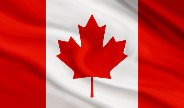 カナダキャンバステクスチャの旗