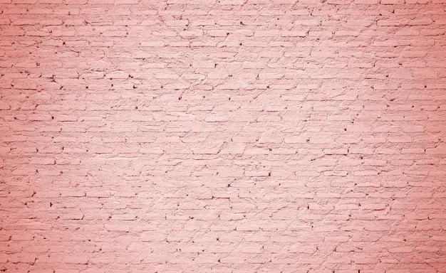 コーラルカラーのレンガの壁のテクスチャ背景