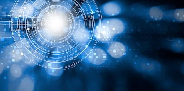 コピースペースを持つデジタル技術の背景デザイン