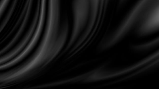 Черный роскошный фон ткани с копией пространства