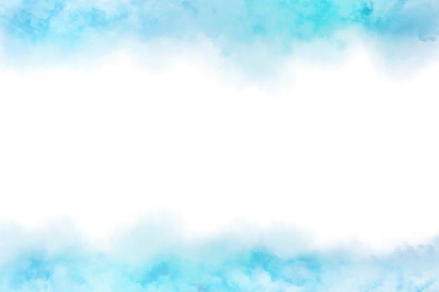 クラウドテクスチャ背景と抽象的な青い水彩画