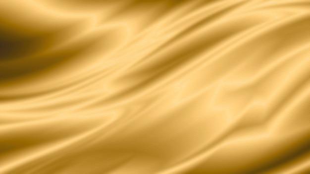 コピースペースとゴールドの高級布の背景