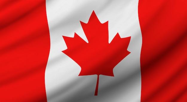 独立記念日のためのカナダの旗の背景デザイン