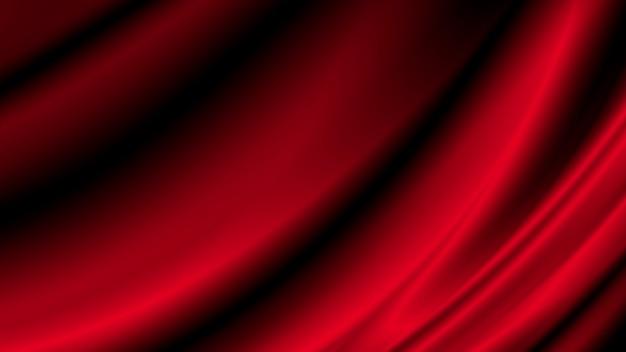 コピースペースと赤の高級布の背景