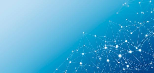 抽象的なグローバルネットワーク接続の背景イラスト