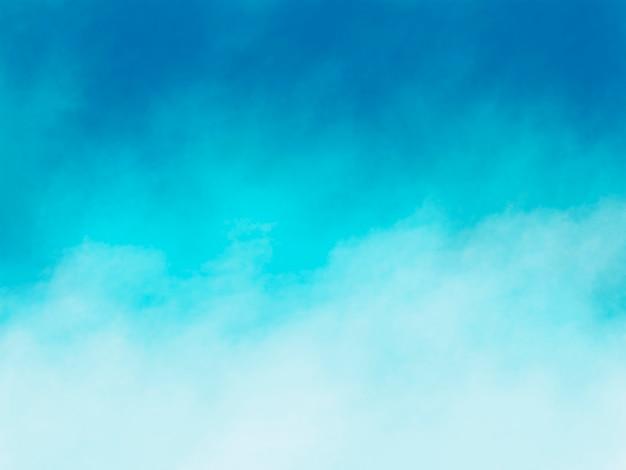 コピースペースを持つ青い水彩ブラシストロークの抽象的な夏の背景デザイン