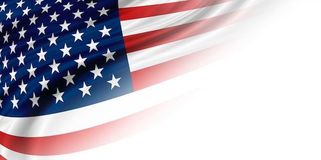 コピースペースを持つ米国またはアメリカの旗の背景