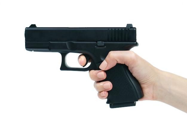 銃:分離された手でピスト。