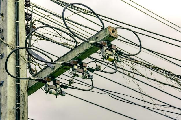三相電力線の遮断器