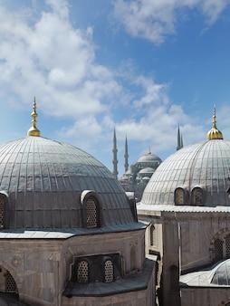 カポラスのドームを通じたブルーモスクの眺め