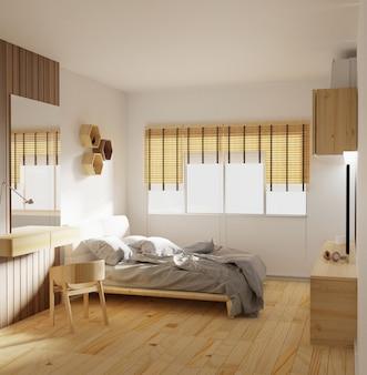 モダンなベッドルームのインテリア