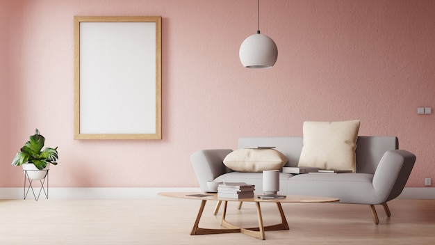Современная гостиная с белым диваном имеет шкаф и деревянные полки на деревянном полу и белую стену
