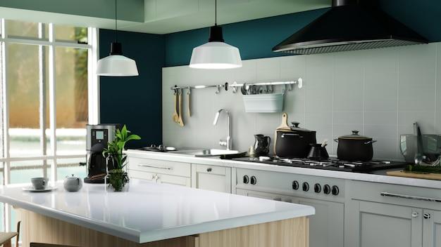 Интерьерная афиша современной кухни